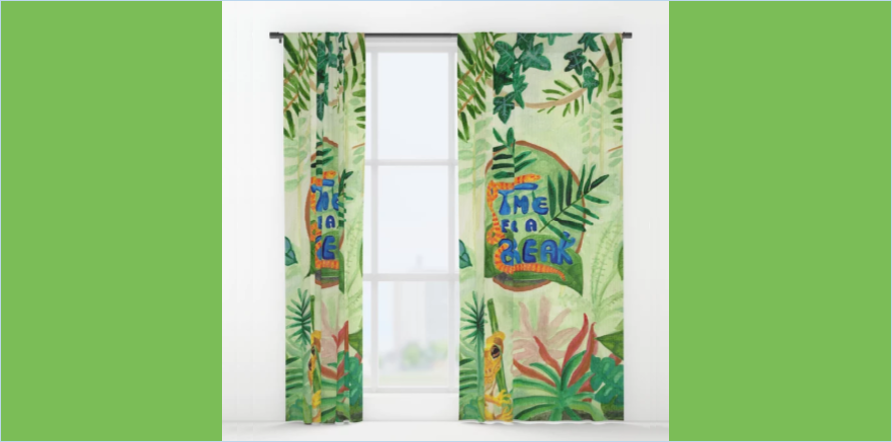 Medilludesign Ecotherapy Jungle Window Curtains