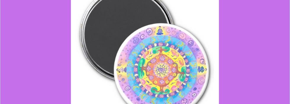 Mandala Meditation magnet