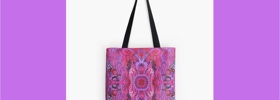 Tote bag abstract cyclamen