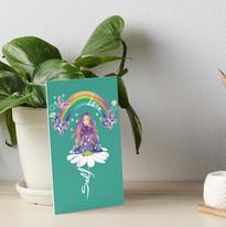 Self Love Daisy Floral Meditation Zen Spiritual Goddess Butterflies Art Board Print