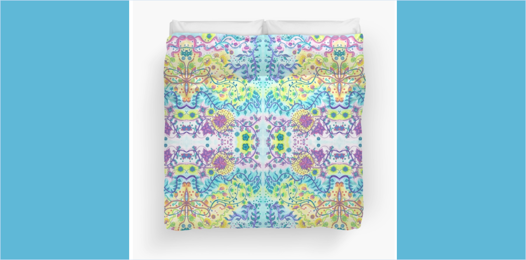 Duvet cover floral abstract design