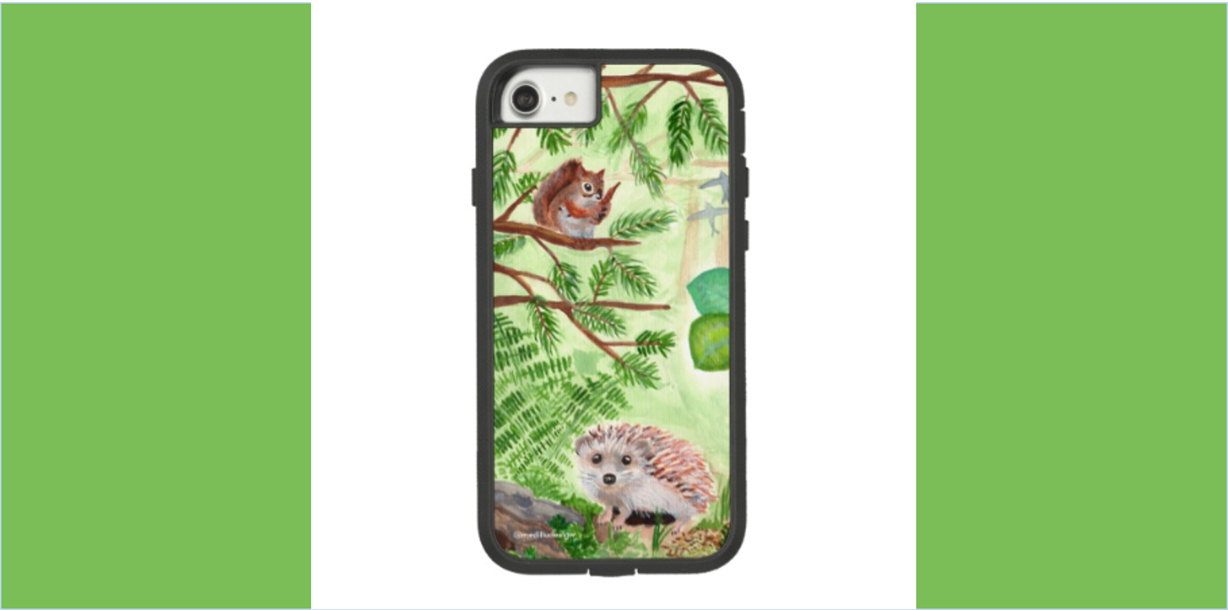 Medilludesign Ecotherapy Forest Case-Mate Tough Extreme iPhone 8/7 Case