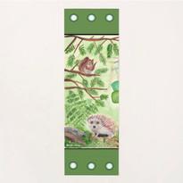 Forest Green Wild Animals Eco Yoga Mat