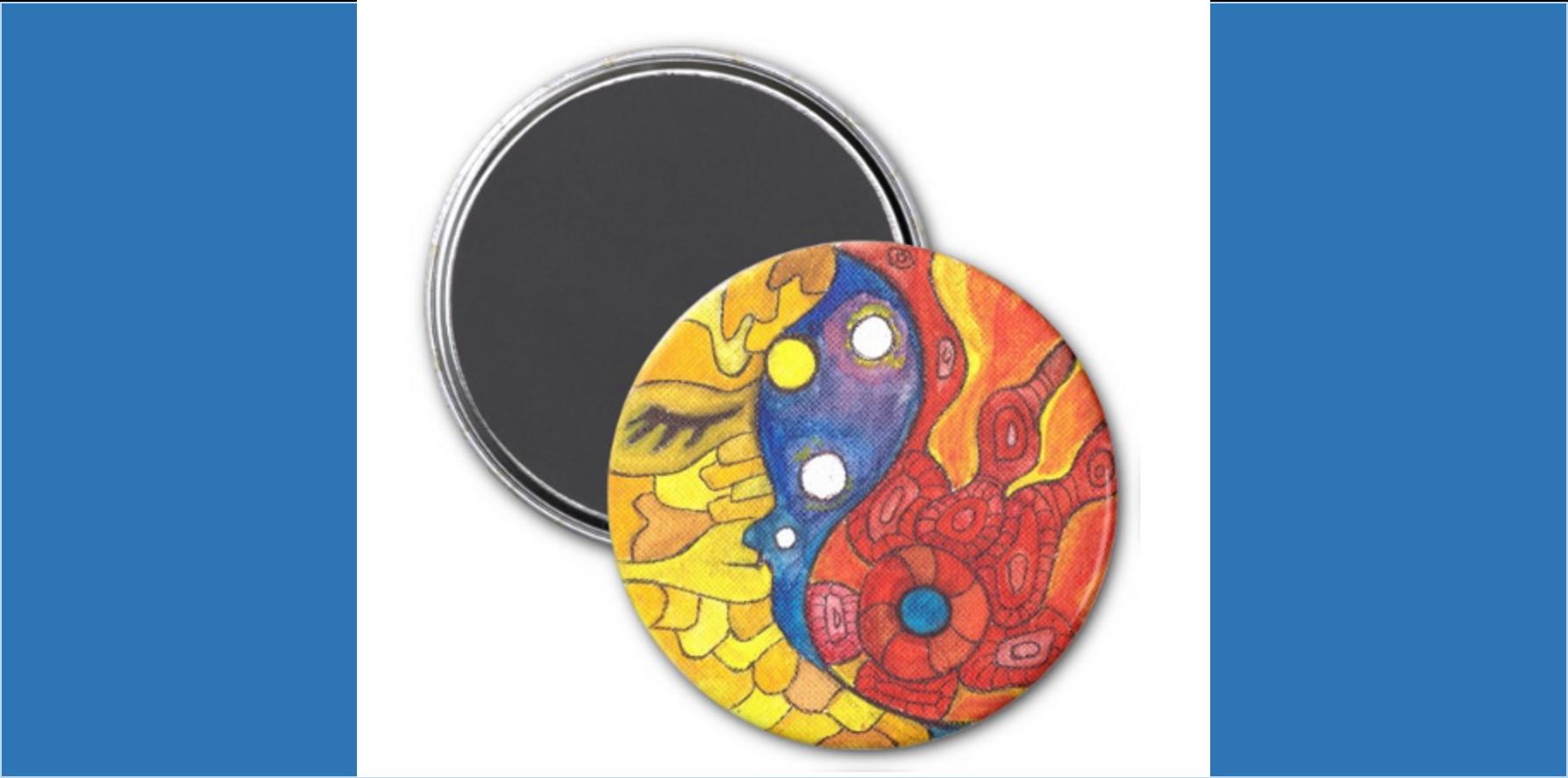 Medilludesign Moon Sun Magnet