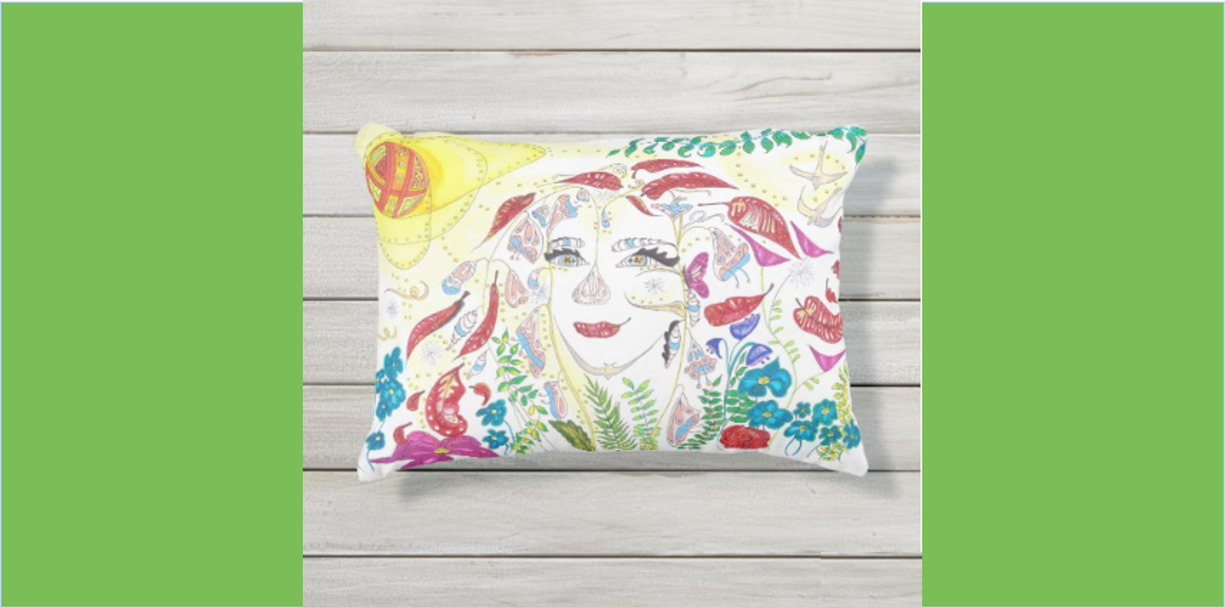 Medilludesign - Consciousness Expansion Outdoor Pillow