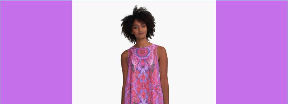A-Line dress Mini Skirt abstract cyclamen