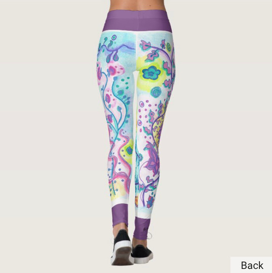 Floral Botanical Yoga Leggings