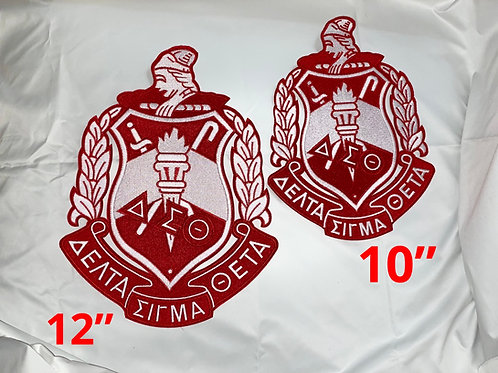DST Crest Fully Embroidered Iron-on Patch