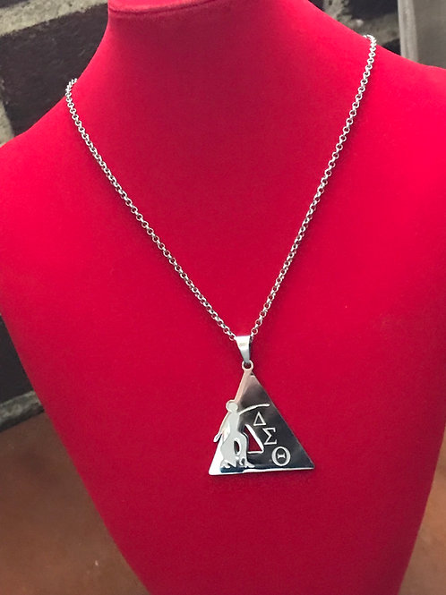 Tri-Symbol Silver Stainless Steel  Pendant-Necklace