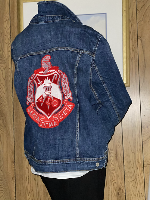 Denim Jacket w/Crest on the Back