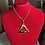 "Thumbnail: Delta Gold 1.75"" Stainless Steel Pendant-Necklace"