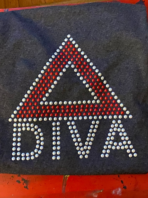 Delta Diva Faux Pearls - T-shirt