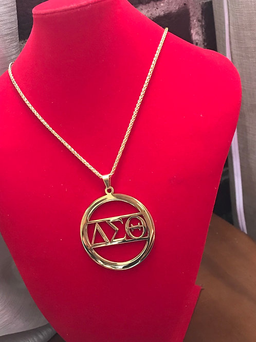Beautiful Circle of Love - Gold Stainless Steel Necklace! Pendant 2""