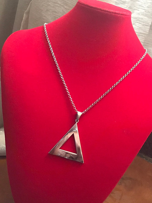 Delta Silver Stainless Steel  Pendant-Necklace