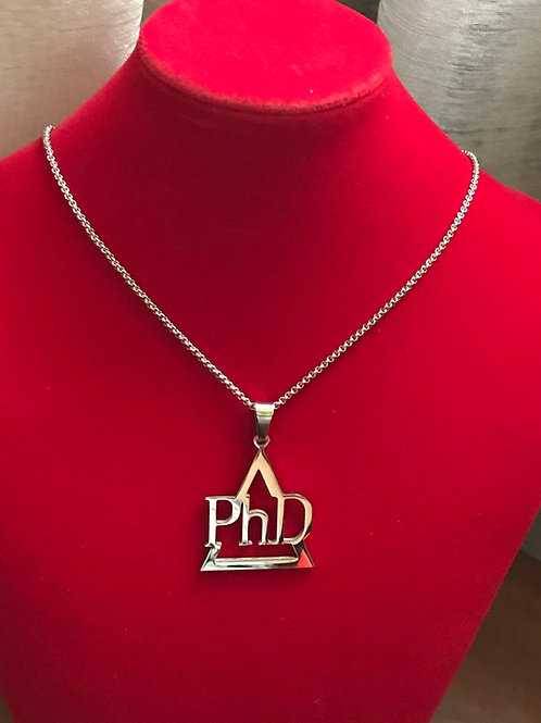 Delta PhD Silver Stainless Steel - Pendant-Necklace