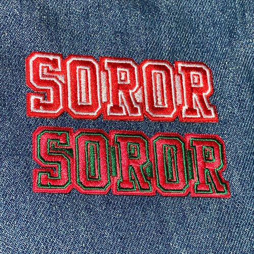 Soror Fully Embroidered Patch