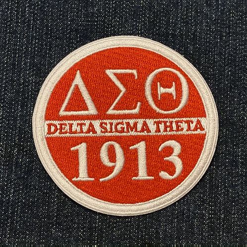 Delta Round Fully Embroidered Patch