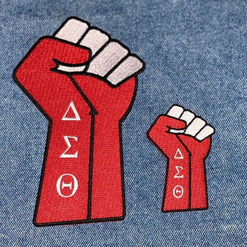 Fist Up DST Power Embroidered Patches