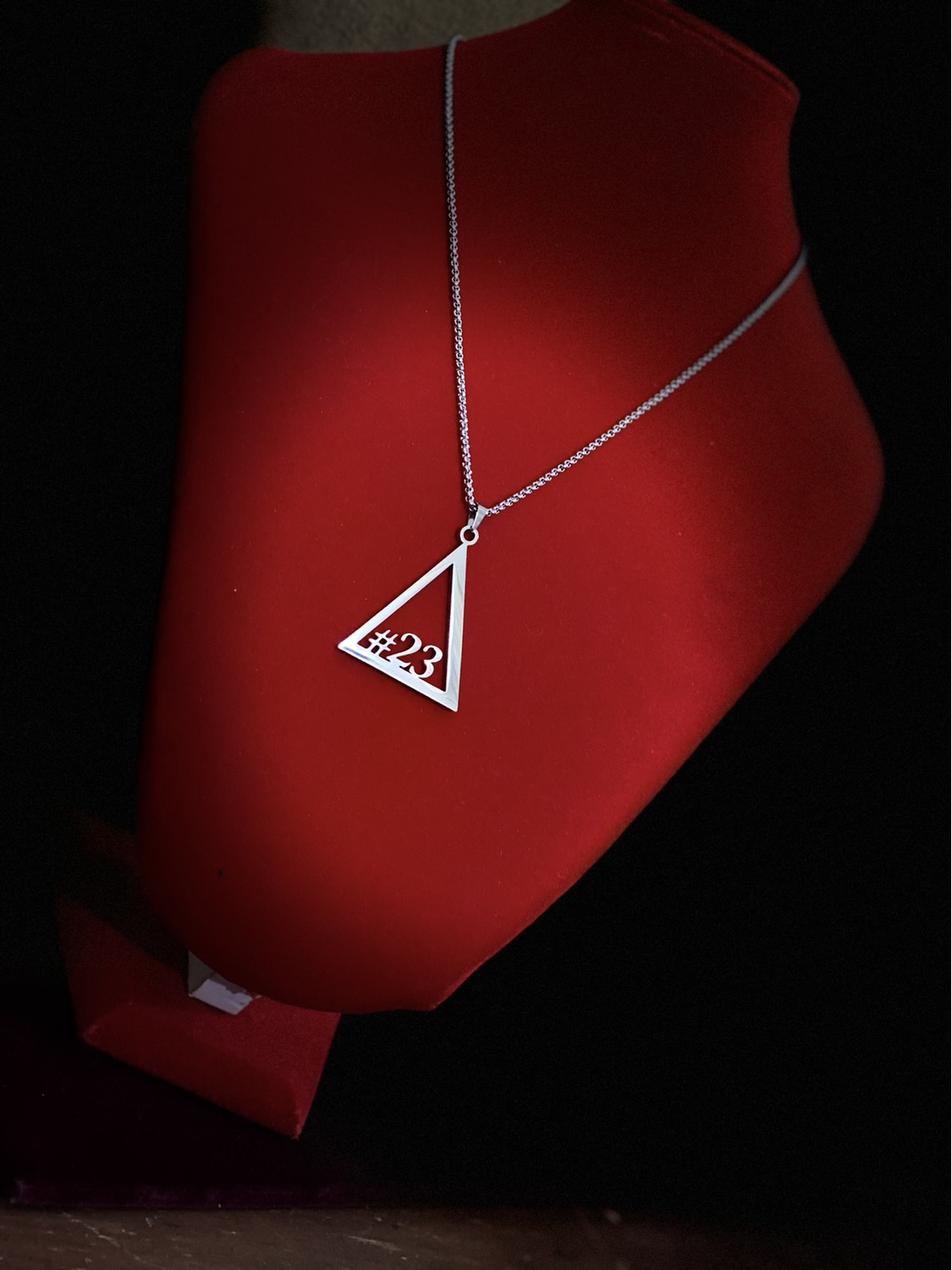 Thumbnail: Delta #21 - #30 Line Numbers SILVER Stainless Steel Pendant-Necklace!