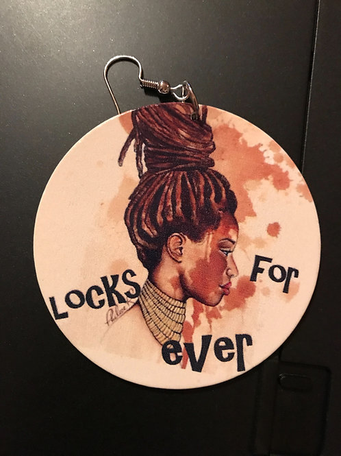 Locks For Ever Wood Earrings