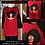 Thumbnail: Afro Delta Glasses Red/Black Tee  Faux Leather Sleeves
