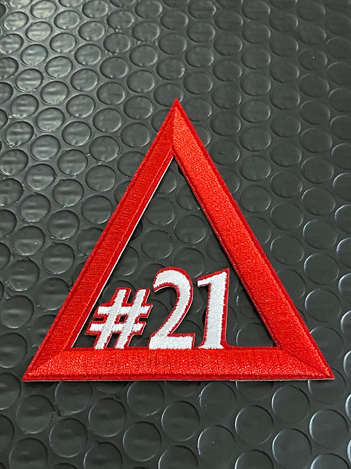 Delta Line Number Embroidery Patches #21 - #40