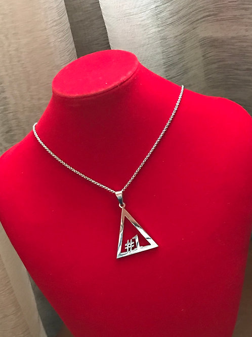 Delta #1 - #10 Line Numbers SILVER Stainless Steel Pendant-Necklace!