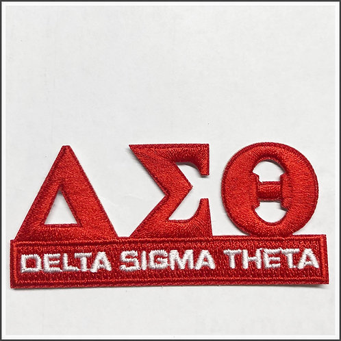 3 Letter Delta Sigma Theta Fully Embroidered Patch