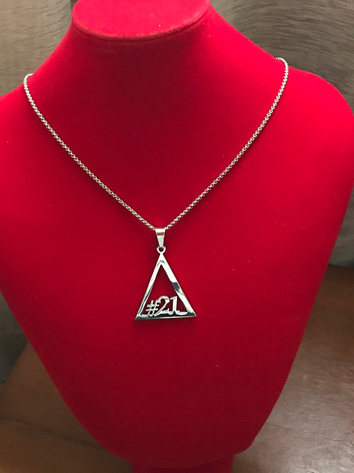 Delta #21 - #30 Line Numbers SILVER Stainless Steel Pendant-Necklace!