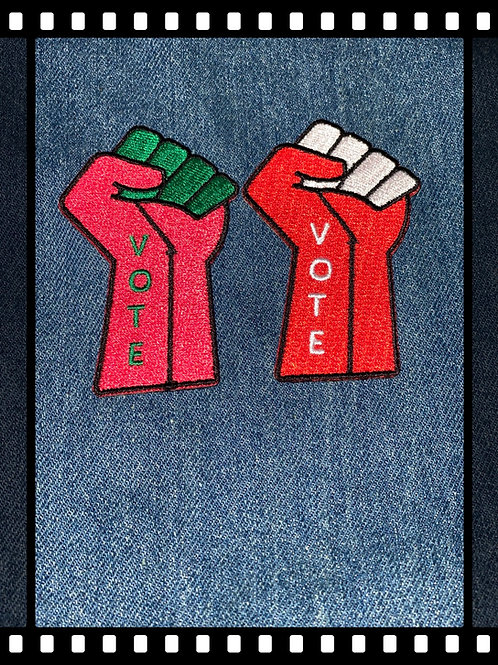 VOTE - Fist Up Embroidered Patches