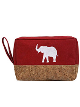 Elephant Print Makeup Pouch Bag