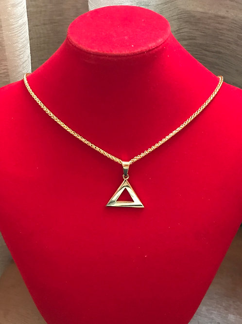 """Delta GOLD 1"""" - Stainless Steel Pendant-Necklace!"""
