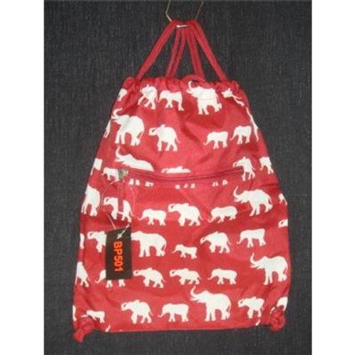 Elephant Print Gym Sport Drawstring Bag Backpack