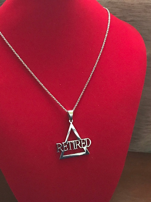 Delta Retired Silver Stainless Steel  Pendant-Necklace