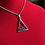 Thumbnail: Delta #41 - #45 Line Numbers SILVER Stainless Steel Pendant-Necklace!