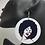 Thumbnail: Afro Girl Lean Wooden Earrings