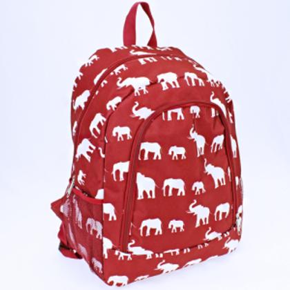 Elephant Print Backpack