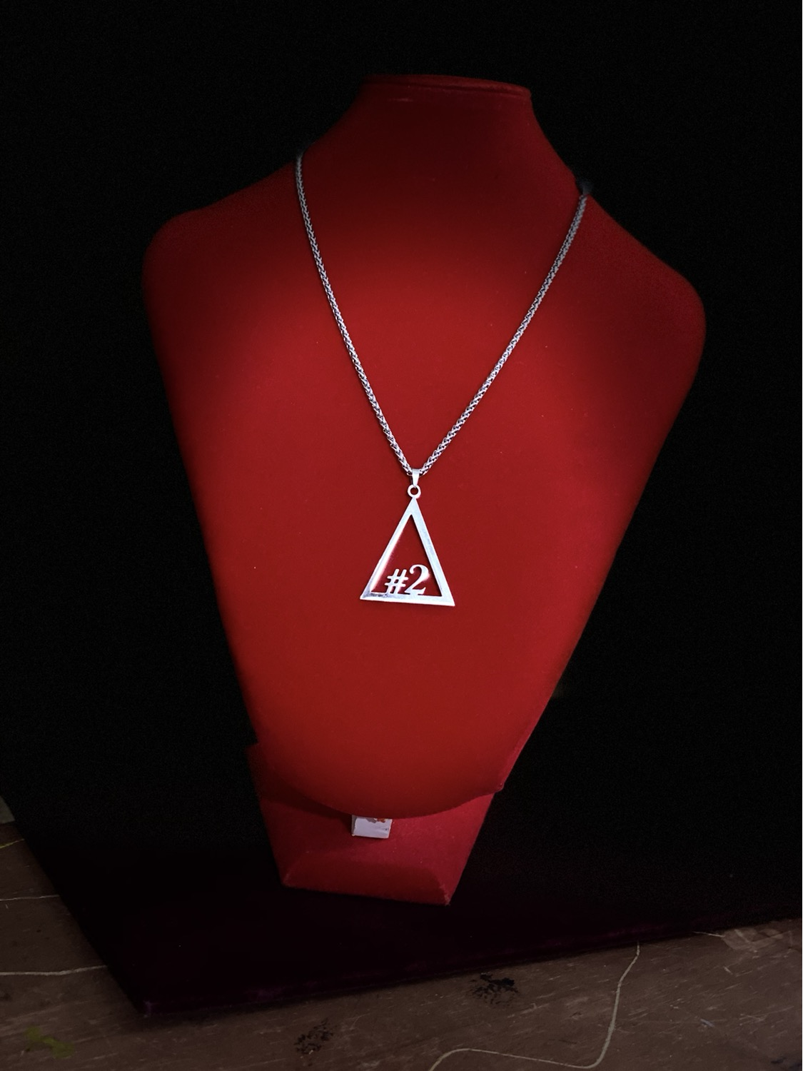 Thumbnail: Delta #1 - #10 Line Numbers SILVER Stainless Steel Pendant-Necklace!
