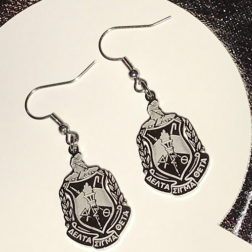 Shield Earrings - Silver Stainless Steel