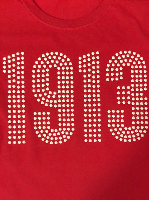 1913 Long Sleeve T-Shirt - Faux Pearls