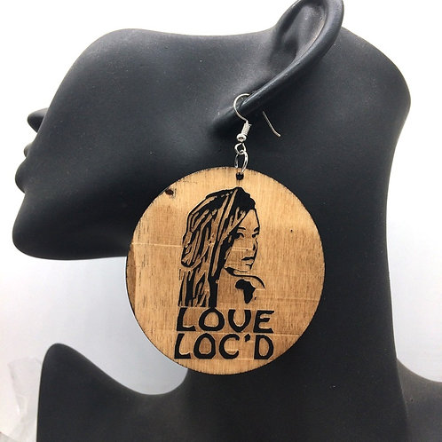 Inspired Love Loc Wood Earrings