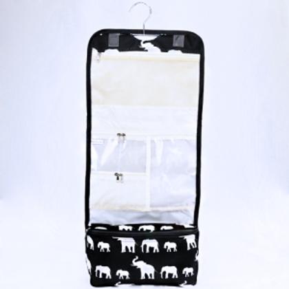 Hanging Cosmetic Case Elephant Black