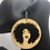 Thumbnail: Curly Afro Wooden Earrings
