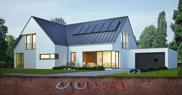 Nytt hus med jordvärme installerat