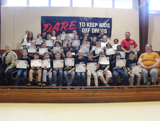 Verda Elementary Students Graduate D.A.R.E. Program