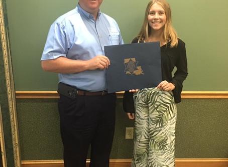 GHS Graduate Named Recipient of Louisiana Sheriff's Scholarship Program