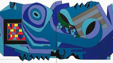 "LyleO. Reitzel Gallery presenta ""Luis Cruz Azaceta: Personal Velocityinthe Age of Covid."""