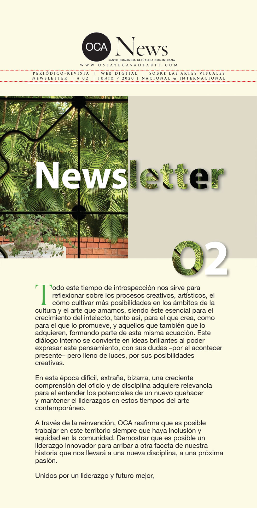 OCA|Newsletter / 02 / Julio, 2020