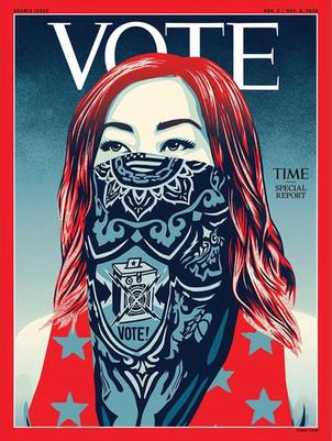 "Shepard Fairey, creador del famoso póster ""Hope"" de Obama, realiza  imagen de portada de US elección"