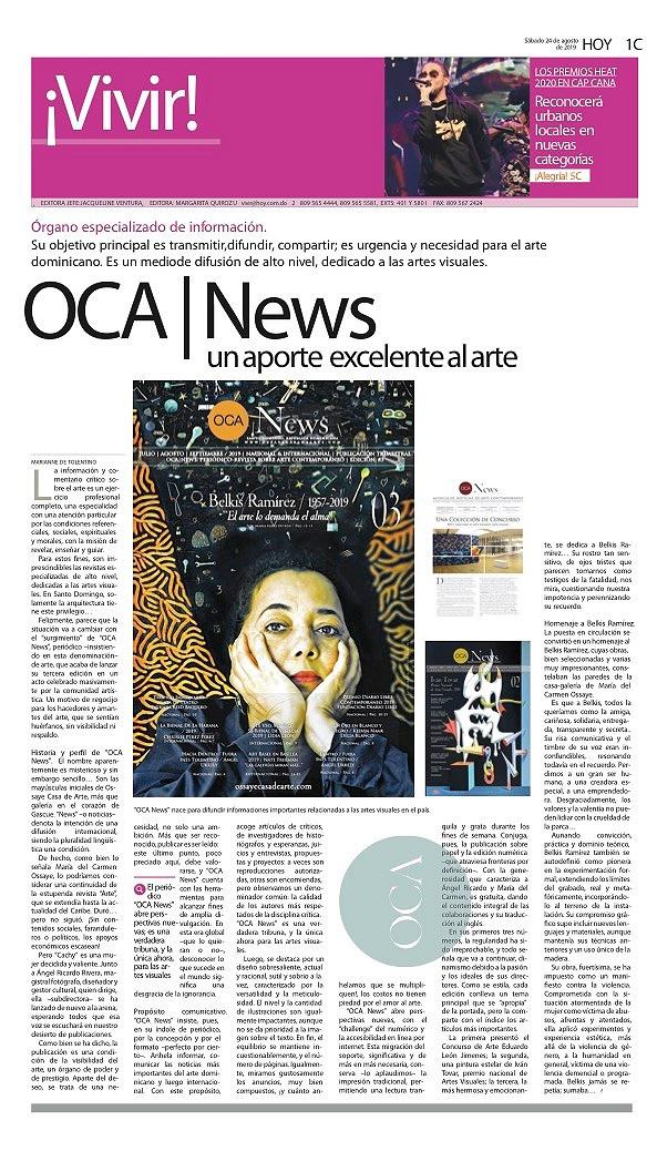 OCA|News, un aporte excelente al arte